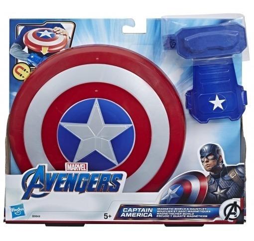 Escudo Y Guante Magnetico Capitan America Avengers Niños
