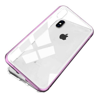 Capa Capinha Case iPhone Magnética 360º Rosa