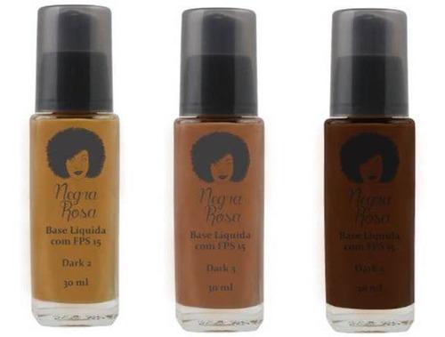 Kit Bases Liquida Dark 2,3,5   Negra Rosa
