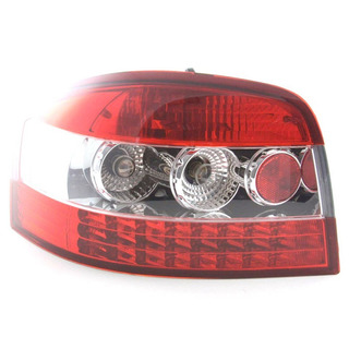 Lanterna Led Esportiva Audi A3 2007 A 2012 Cristal Red