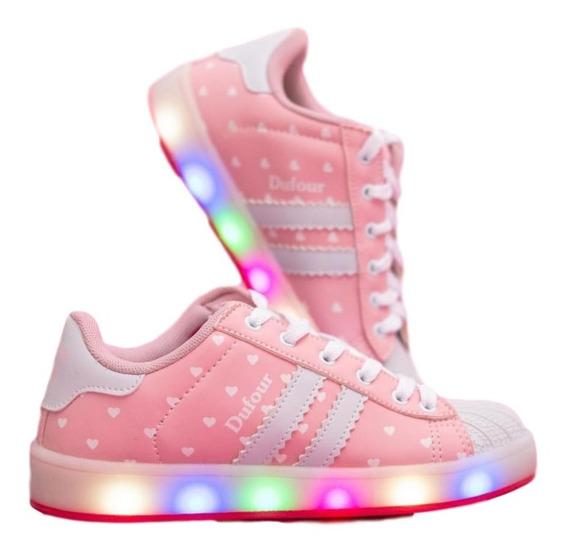 Zapatillas Con Luces Led Para Niñas . Dufour
