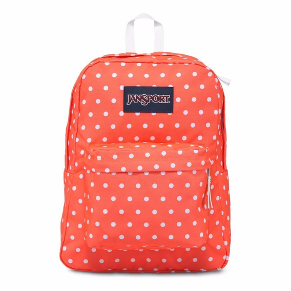 Mochila Jansport Superbreak Tahitian Orange With White Dots