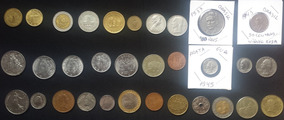 Lote 32 Moedas Variadas Dólar Prata Níquel Rosa 16 Países