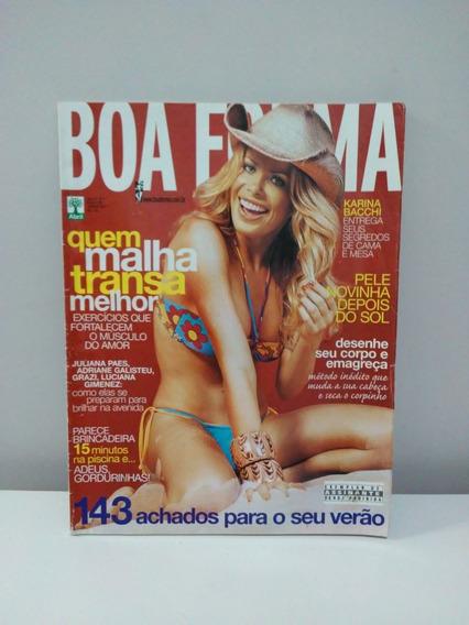 Revista Boa Forma - Janeiro 2007 - Capa Karina Bacchi