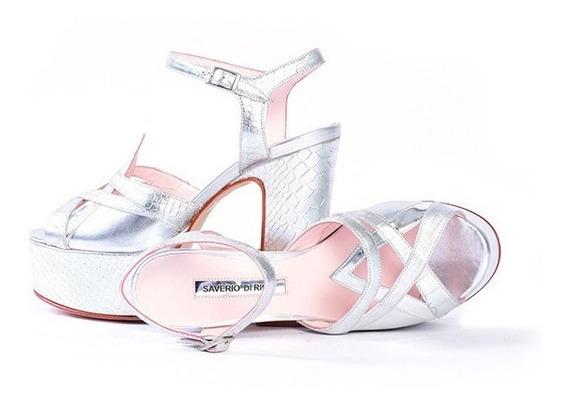 Zapato - Plataforma - Plata - Saverio Di Ricci - Outlet