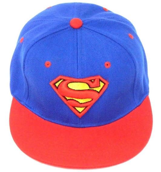 Superman Gorra Bordada 3d Clark Kent Broche Ajustable