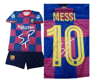 Uniforme Infantil Barcelona Messi 10