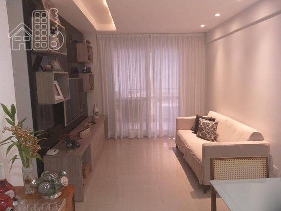 Apartamento Com 2 Dormitórios À Venda, 80 M² Por R$ 800.000 - Icaraí - Niterói/rj - Ap3290