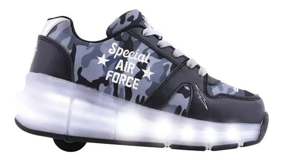 Zapatillas Footy Rueda Camufladas Led Fxr43