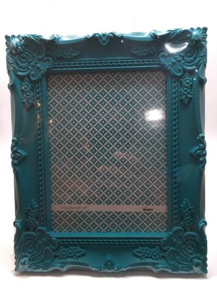 Porta Retrato De Plástico Verde 15 Cm . 20 Cm