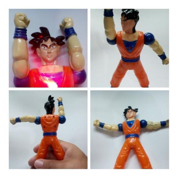 2 Figuras Dragon Ball Z Muñecos Goku Juguete Movimientos Luz