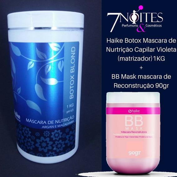 Haike Botox Masc Nurtrição Violeta (matizador) 1kg + Bb Mask