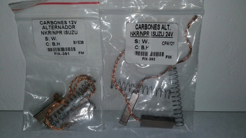 Carbones Alternador Npr Nkr Encava Nt 610- P 3 Unidades