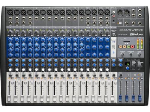 Imagen 1 de 3 de Presonus Ar22 Studiolive Consola 22 Canales Con Placa