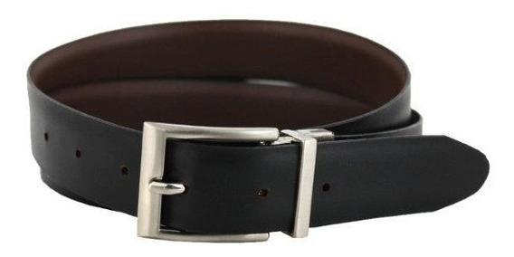 Evolución - Cinturón 55 Doble Vista Negro Y Brandy