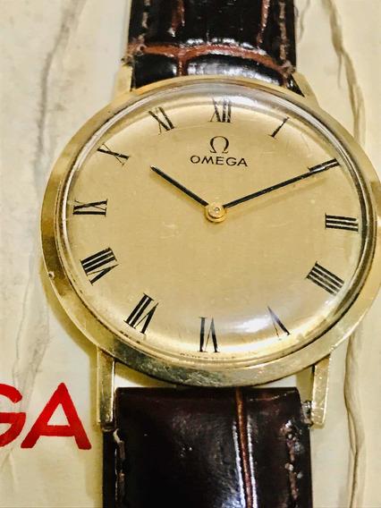 Omega De Cuerda En Oro 14 K