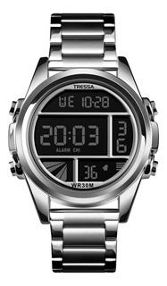 Reloj Tressa Digital Wr 30m Crono Alarma Calendario Negro