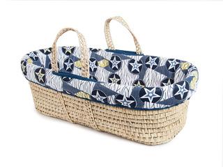 Tadpoles Moisés Basket And Bedding Set Blue Star
