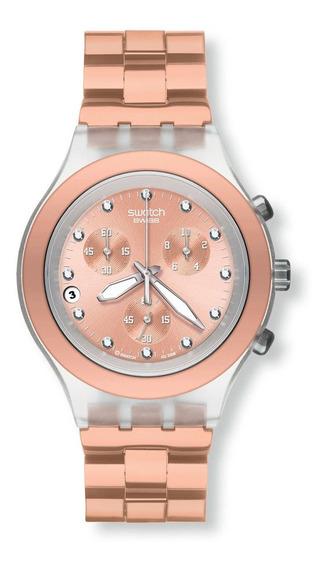 Relógio Swatch Feminino Full Blooded Caramel Svck4047ag