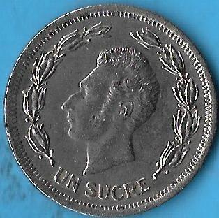!!! Ecuador 1 Sucre 1974 Exelente !!!!