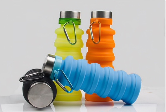 Botella Plegable Ecológica De Silicona De 550 Ml