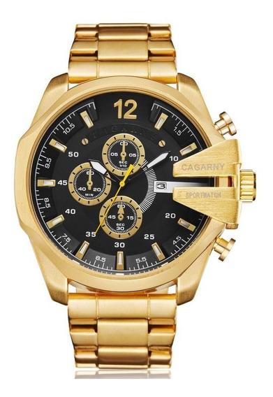Relógio Cagarny 6839 / Luxo Masculino / Brasil / Com Caixa