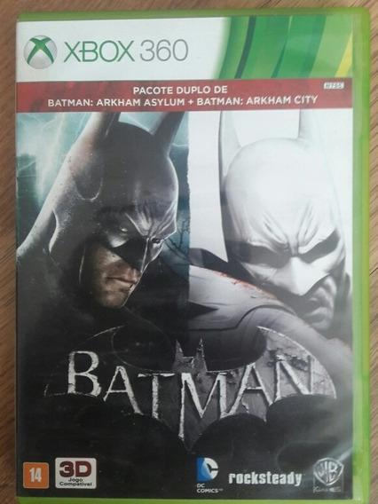 Jogo Pack Batman Arkham Asylum E City-xbox 360 -originais