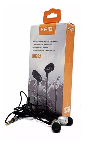 Fone De Ouvido Com Micro Fone Kaidi Kd702 In-ear Prata