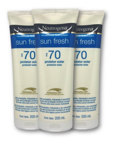 Kit 3 Protetores Solar Neutrogena Corpo Sunfresh Fps70 Promo