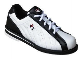 Zapatos Para Boliche Unisex Kicks Marca 3g Blanco/negro