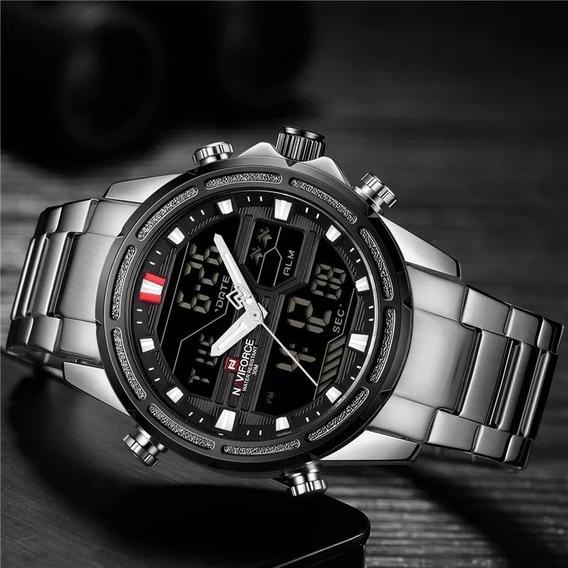 Relógio Masculino Naviforce Nf9138 Analógico E Digital