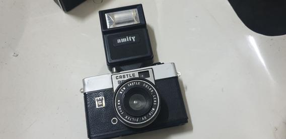 Máquina Fotográfica Antiga Castle 35c Com Flash