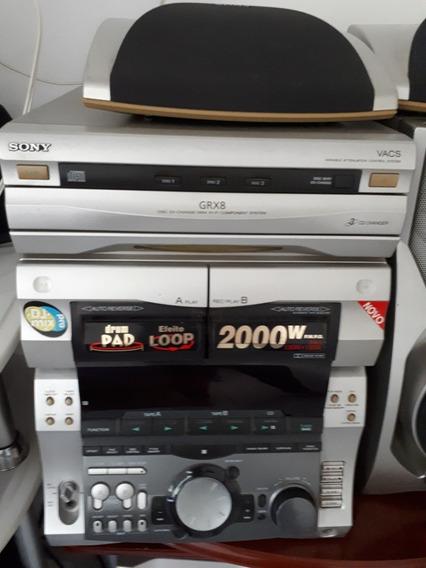 Aparelho De Som Sony Grx-8, 2000 Wats Com Caixas, Perfeito!