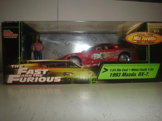 Miniatura 1:24 Mazda Rx-7 1993 Mia Toretto Ertl Fast Furious