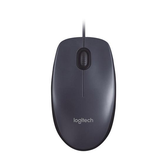 Mouse Logitech M100 Optico Usb Preto Com Fio