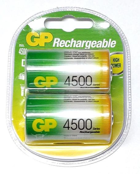Pilha Recarregável D 4500mah 2 Unidades Gp Original
