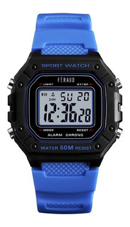 Reloj Unisex Feraud G Shock Azul Digital 50m Alarma F5544az