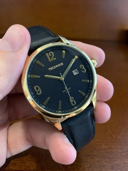 Relógio Pulso Technos Classic Golf Dourado