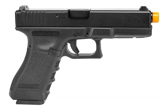 Pistola Airsoft À Gás Gbb Glock Black Blowback 6mm Army