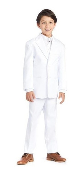 Traje Blanco Niño De Regalo Camisa
