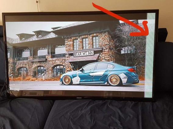 Televisão Samsung 60 Polegadas - Faixa No Visor
