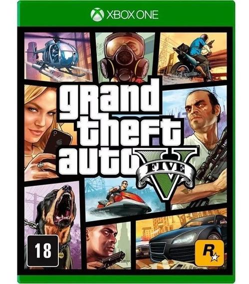 Grand Theft Auto 5 V Gta V 5 Xbox One Mídia Física