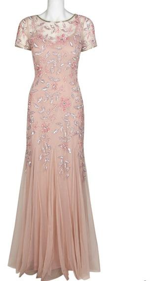 Hermoso Vestido De Noche Adrianna Papell 100% Original