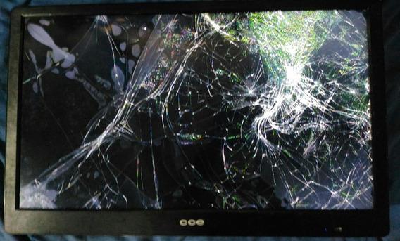 Com Defeito: Tv Led 32 Polegadas Cce Lt32g Com Tela Trincada