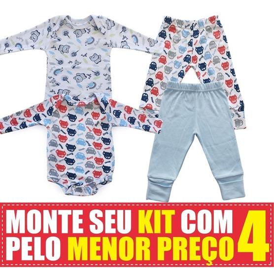 Conjunto De Body E Calça Em Suedine Maxi Baby - Kit 4 Peças