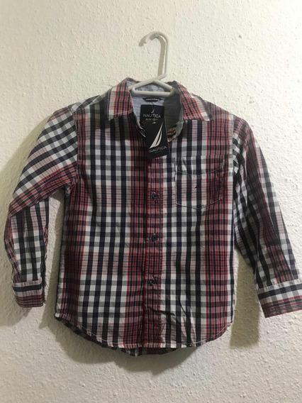 Camisa Náutica Para Niño Talla 5/6 Cuadrada Nueva Original