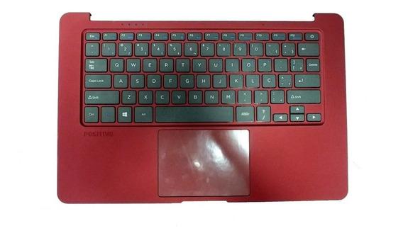 Carcaça Touchpad Com Teclado Positivo Motion Q232a Red