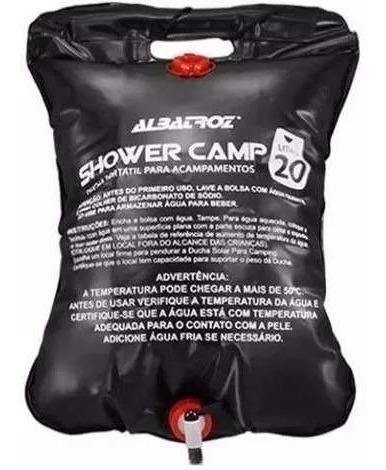Imagem 1 de 6 de Bolsa Shower Chuveiro Camping Albatroz Água Quente 20 Litros