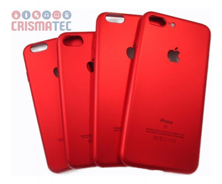 Capa Apple Red iPhone 5/5s 6/6s 7/7s 8 Plus Logo Maçã Vazado