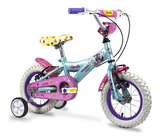Bicicleta Infantil Rodado 12 Minnie Niña Cross Bmx Rueditas